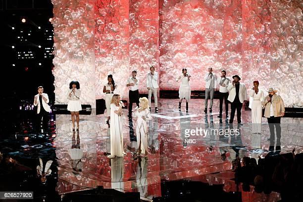 THE VOICE Live Top 10 Episode 1116B Pictured Billy Gilman We McDonald Courtney Harrell Jennifer Nettles Josh Gallagher Dolly Parton Austin Allsup...
