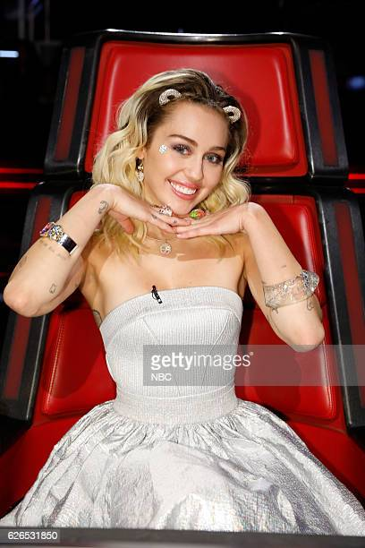 THE VOICE Live Top 10 Episode 1116B Pictured Miley Cyrus