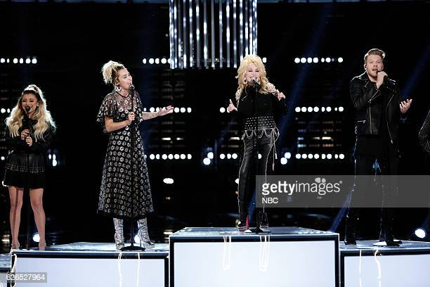 THE VOICE Live Top 10 Episode 1116B Pictured Pentatonix Miley Cyrus Dolly Parton