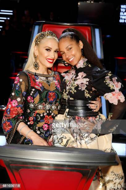 THE VOICE 'Live Top 10' Episode 1217B Pictured Gwen Stefani Alicia Keys