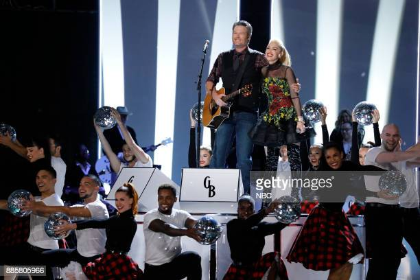 THE VOICE 'Live Top 10' Episode 1319A Pictured Blake Shelton Gwen Stefani