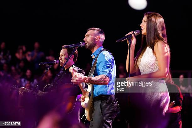 THE VOICE Live Top 10 Episode 814B Pictured Joshua Davis Adam Levine Deanna Johnson