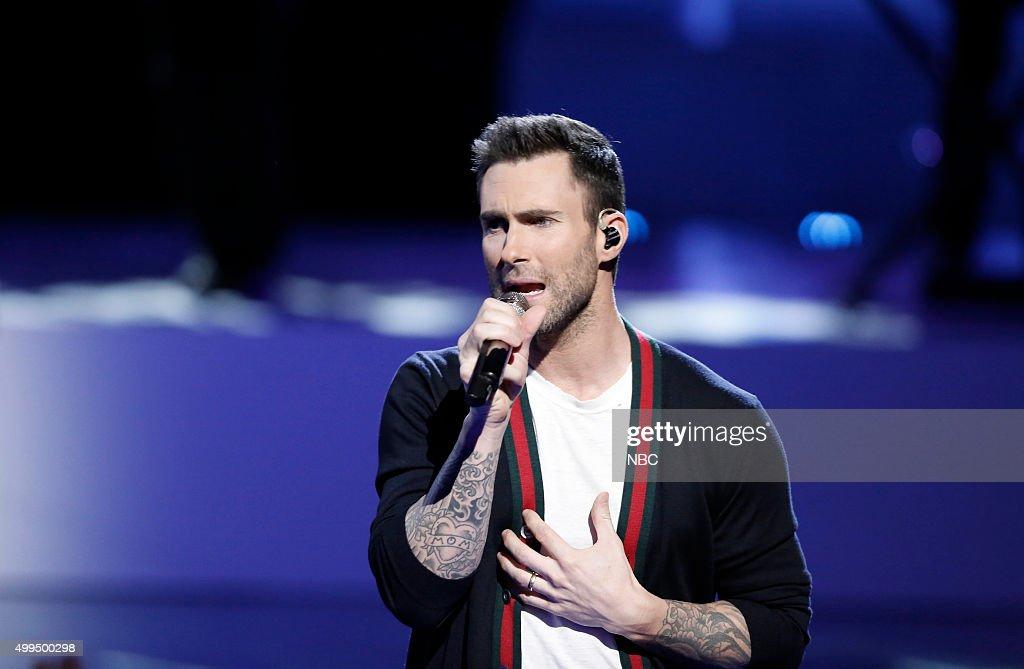 THE VOICE -- 'Live Top 10' Episode 916B -- Pictured: Adam Levine --