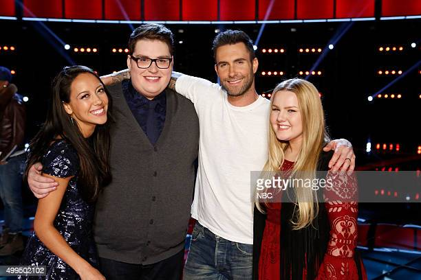 THE VOICE Live Top 10 Episode 916B Pictured Amy Vachal Jordan Smith Adam Levine Shelby Brown