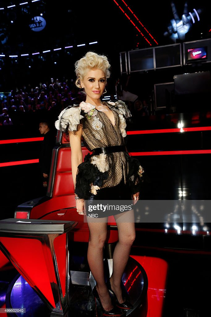 THE VOICE -- 'Live Top 10' Episode 916B -- Pictured: Gwen Stefani --
