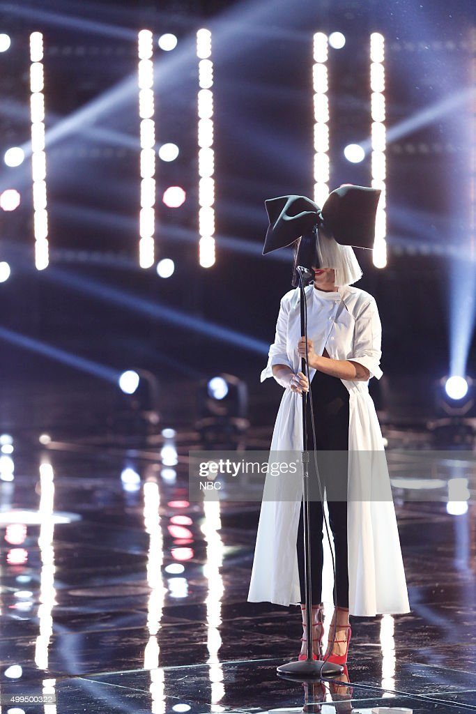 THE VOICE -- 'Live Top 10' Episode 916B -- Pictured: Sia --
