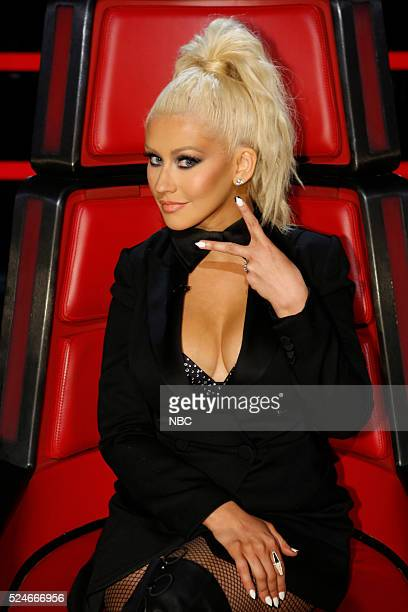 THE VOICE 'Live Top 11' Episode 1014B Pictured Christina Aguilera