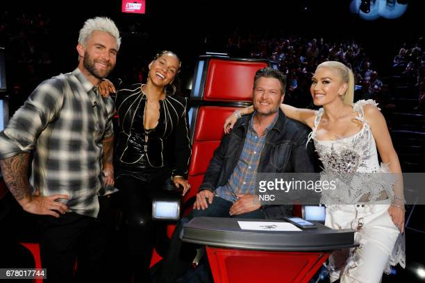 THE VOICE 'Live Top 11' Episode 1216B Pictured Adam Levine Alicia Keys Blake Shelton Gwen Stefani