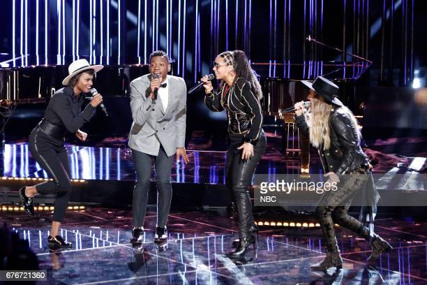 THE VOICE 'Live Top 11' Episode 1216B Pictured Vanessa Ferguson Chris Blue Alicia Keys Stephanie Rice