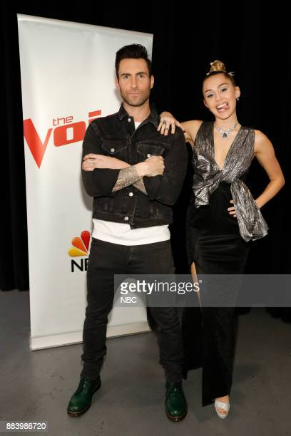 THE VOICE 'Live Top 11' Episode 1318A Pictured Adam Levine Miley Cyrus