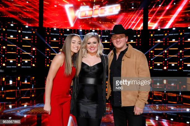 THE VOICE Live Top 11 Episode 1416B Pictured Brynn Cartelli Kelly Clarkson Kaleb Lee