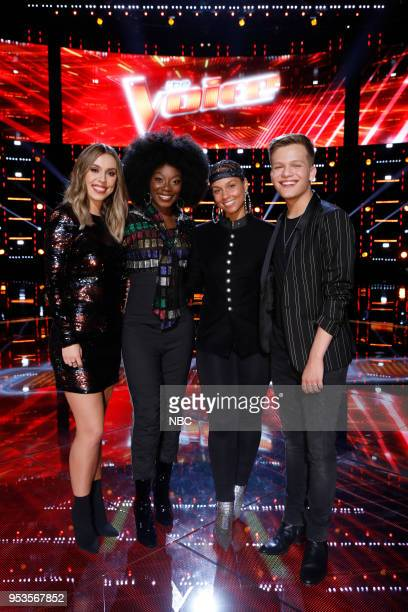 THE VOICE Live Top 11 Episode 1416B Pictured Jackie Foster Christiana Danielle Alicia Keys Britton Buchanan