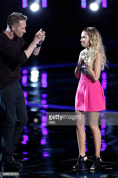 THE VOICE Live Top 11 Episode 915B Pictured Barrett Baber Emily Ann Roberts