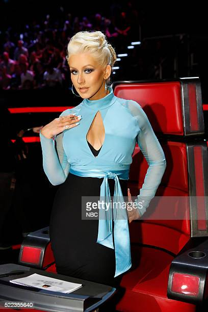 THE VOICE 'Live Top 12' Episode 1013A Pictured Christina Aguilera