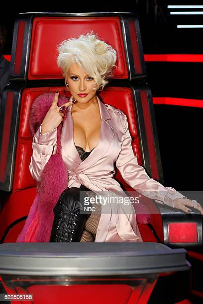THE VOICE 'Live Top 12' Episode 1013B Pictured Christina Aguilera