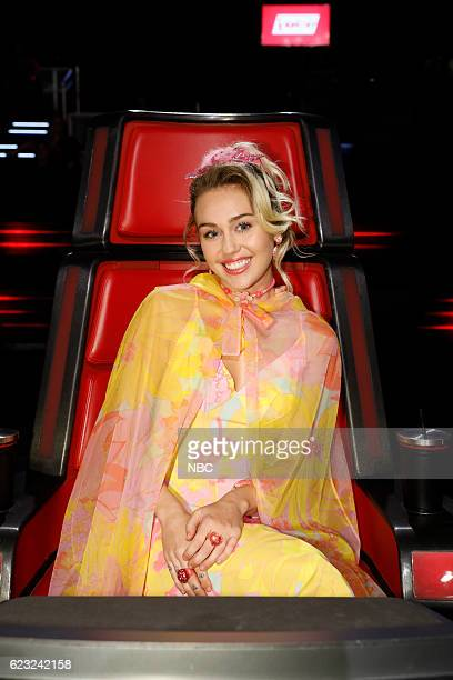 THE VOICE 'Live Top 12' Episode 1114A Pictured Miley Cyrus