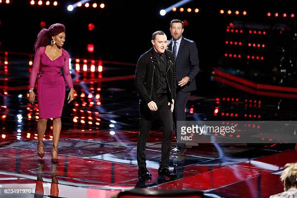 THE VOICE Live Top 12 Episode 1114B Pictured Sa'Rayah Aaron Gibson Carson Daly