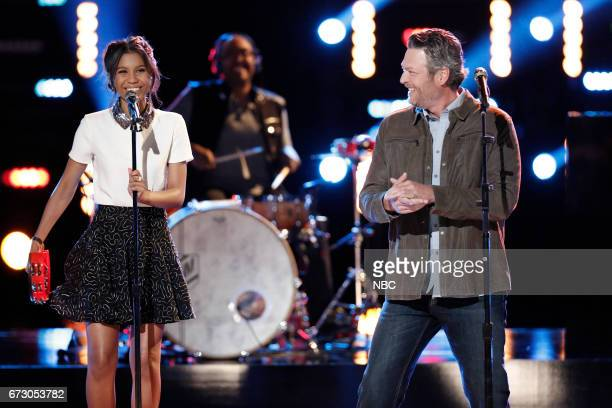 THE VOICE 'Live Top 12' Episode 1215B Pictured Aliyah Moulden Blake Shelton