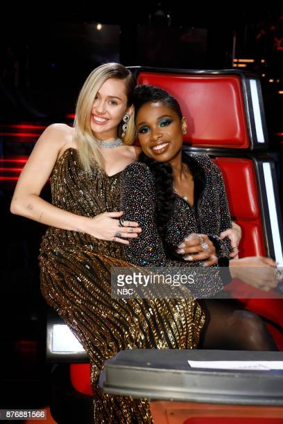 THE VOICE 'Live Top 12' Episode 1317A Pictured Miley Cyrus Jennifer Hudson