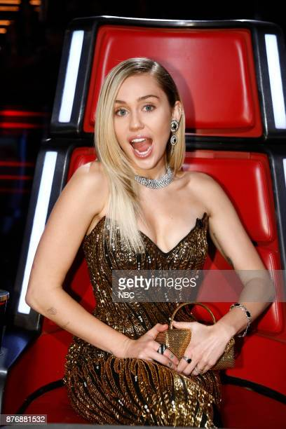 THE VOICE Live Top 12 Episode 1317A Pictured Miley Cyrus