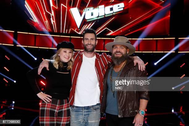 THE VOICE 'Live Top 12' Episode 1317B Pictured Addison Agen Adam Levine Adam Cunningham