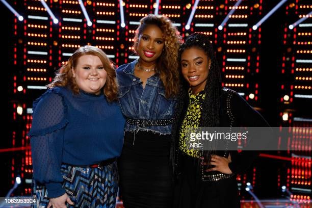 THE VOICE Live Top 13 Results Episode 1515B Pictured Makenzie Thomas Jennifer Hudson Kennedy Holmes