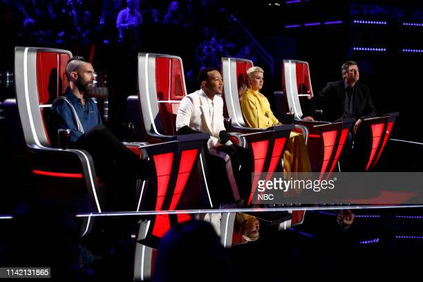 THE VOICE Live Top 13 Results Episode 1614B Pictured Adam Levine John Legend Kelly Clarkson Blake Shelton
