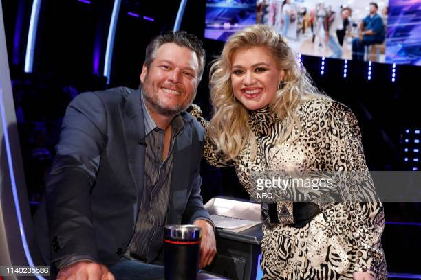 THE VOICE Live Top 24 Episode 1613A Pictured Blake Shelton Kelly Clarkson