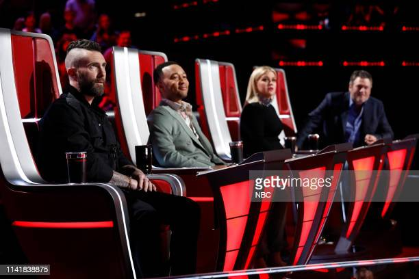 THE VOICE Live Top 8 Results Episode 1614A Pictured Adam Levine John Legend Kelly Clarkson Blake Shelton