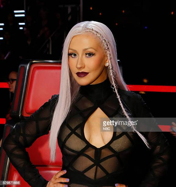 THE VOICE Live Top 9 Episode 1016A Pictured Christina Aguilera
