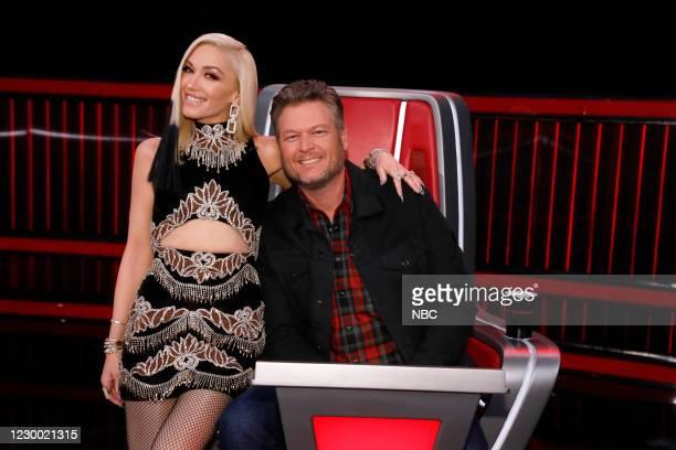 "Live Top 9 Results"" Episode 1913B -- Pictured: Gwen Stefani, Blake Shelton --"