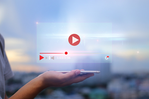 live video content online streaming marketing concept. 1197847204
