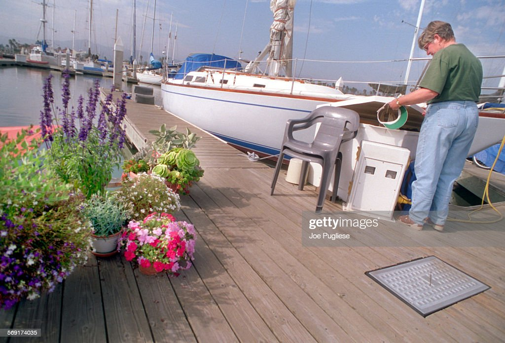 Liveaboard Margot Daniel has various plants adorning the