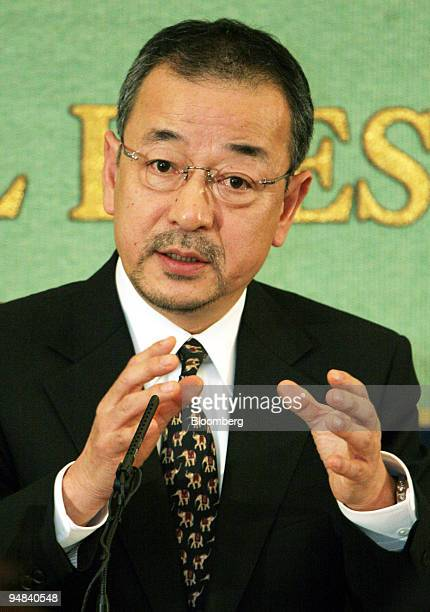 Livedoor Co President Kozo Hiramatsu speaks to reporters during a news conference in Tokyo Friday February 24 2006