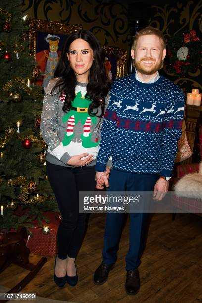 LiveFigures of Meghan Duchess of Sussex and Prince Harry Duke of Sussex are shown at Madame Tussauds on December 11 2018 in Berlin Germany