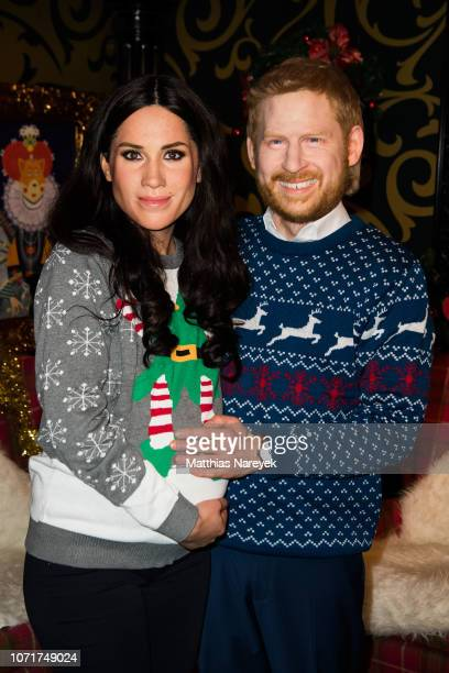 Live-Figures of Meghan, Duchess of Sussex and Prince Harry, Duke of Sussex are shown at Madame Tussauds on December 11, 2018 in Berlin, Germany.