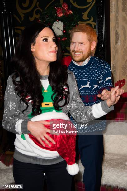 LiveFigures Of The Duke Dutchess Of Sussex are shown at Madame Tussauds on December 11 2018 in Berlin Germany
