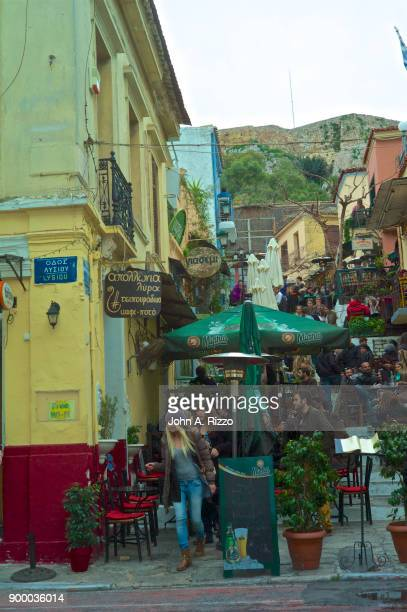 Lively Outdoor Cafe Restaurant in Plaka