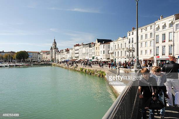 lively waterfront in la rochelle - la rochelle stock pictures, royalty-free photos & images