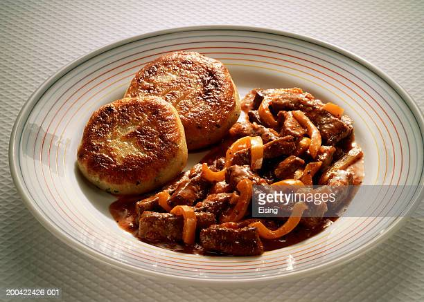 Liver Stew with Potato Patties