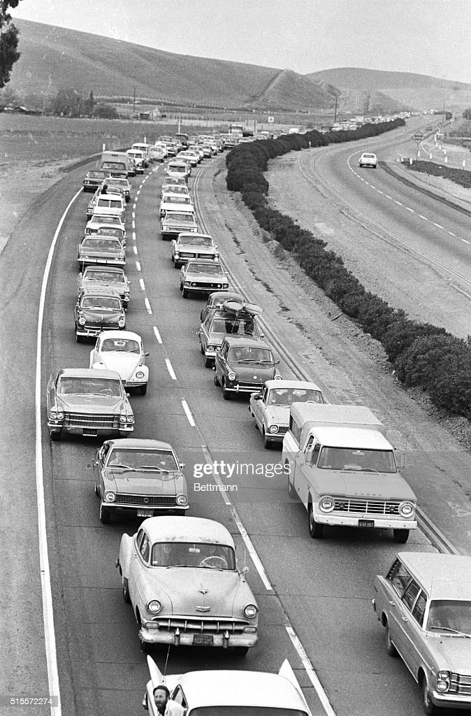 Traffic Jam Due To Rolling Stones Concer : News Photo