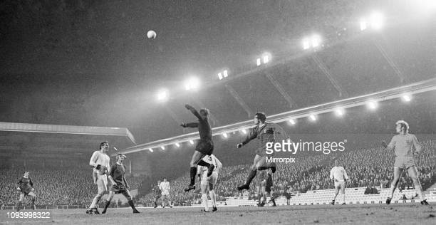 Liverpool 00 Bayern Munich European Cup Winners Cup 2nd round 1st leg match at Anfield Wednesday 20th October 1971 picture shows Bayern goalkeeper...