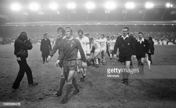 Liverpool 00 Bayern Munich European Cup Winners Cup 2nd round 1st leg match at Anfield Wednesday 20th October 1971 picture shows Players and...