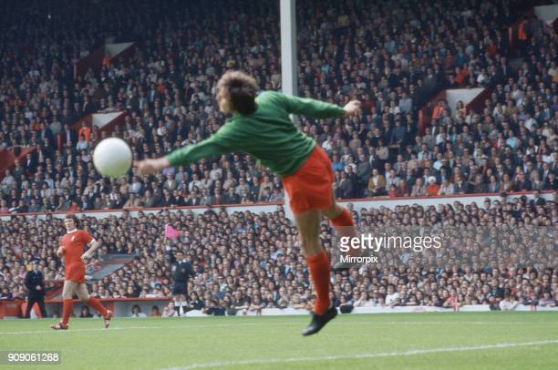 Liverpool 2 v Manchester City 0 First Division one match at Anfield Liverpool's Ray Clemence in action 12th August 1972