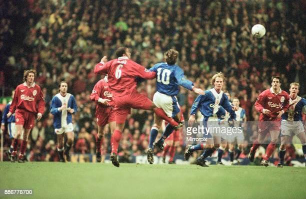 Liverpool 21 Middlesbrough League Cup semi final 1st leg match at Anfield Tuesday 27th January 1998 Steve McManaman Steve Baker Phil Babb No6 Brian...
