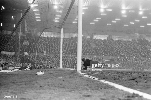 Liverpool 30 Bayern Munich InterCities Fairs Cup Quarterfinal 1st Leg match at Anfield Wednesday 10th March 1971 picture shows Liverpool first goal...