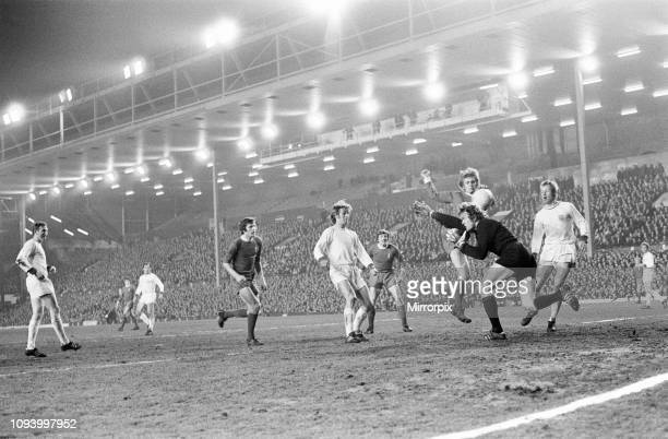 Liverpool 30 Bayern Munich InterCities Fairs Cup Quarterfinal 1st Leg match at Anfield Wednesday 10th March 1971 picture shows Alun Evans striker...