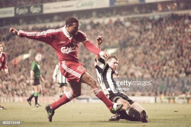 Liverpool 4-3 Newcastle United, premier league match at Anfield, Wednesday 3rd April 1996. Our picture shows John Barnes.