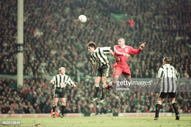 Liverpool 4-3 Newcastle United, premier league match at Anfield, Wednesday 3rd April 1996. Our picture shows Stan Collymore.