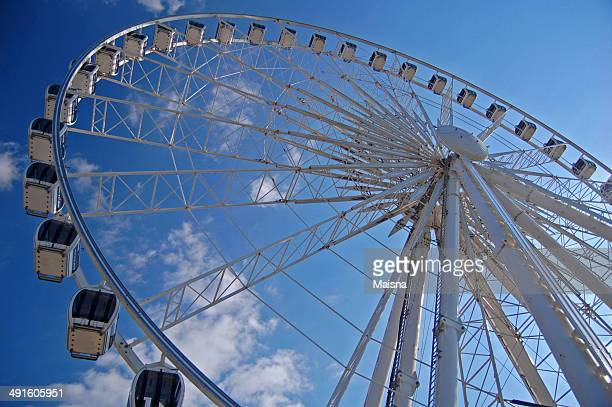 view of the big wheel in liverpool, uk